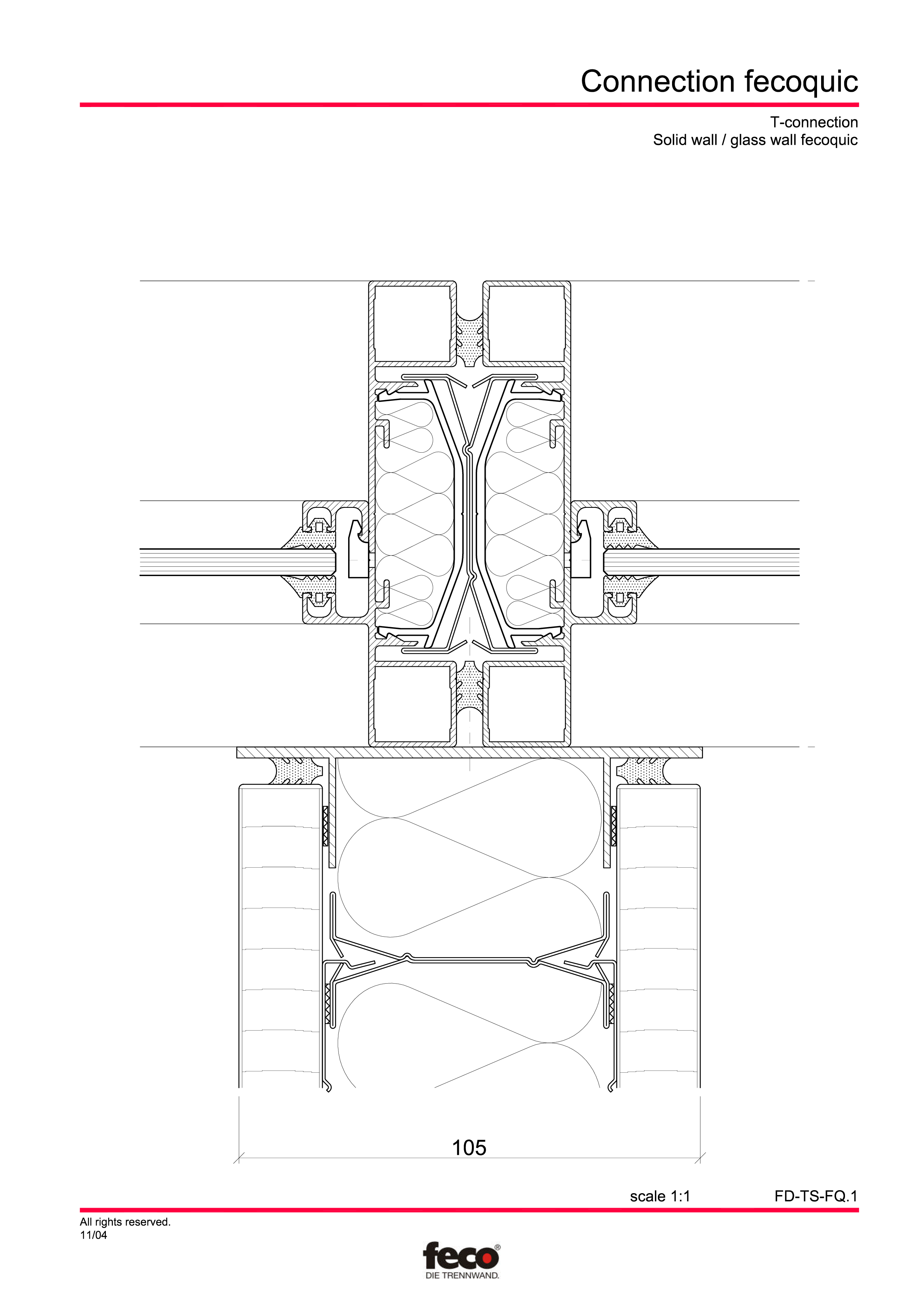 Pagina 5 - CAD-PDF Detaliu racord pereti FECO Detaliu de montaj FecoPur, FecoFix, FecoLux
