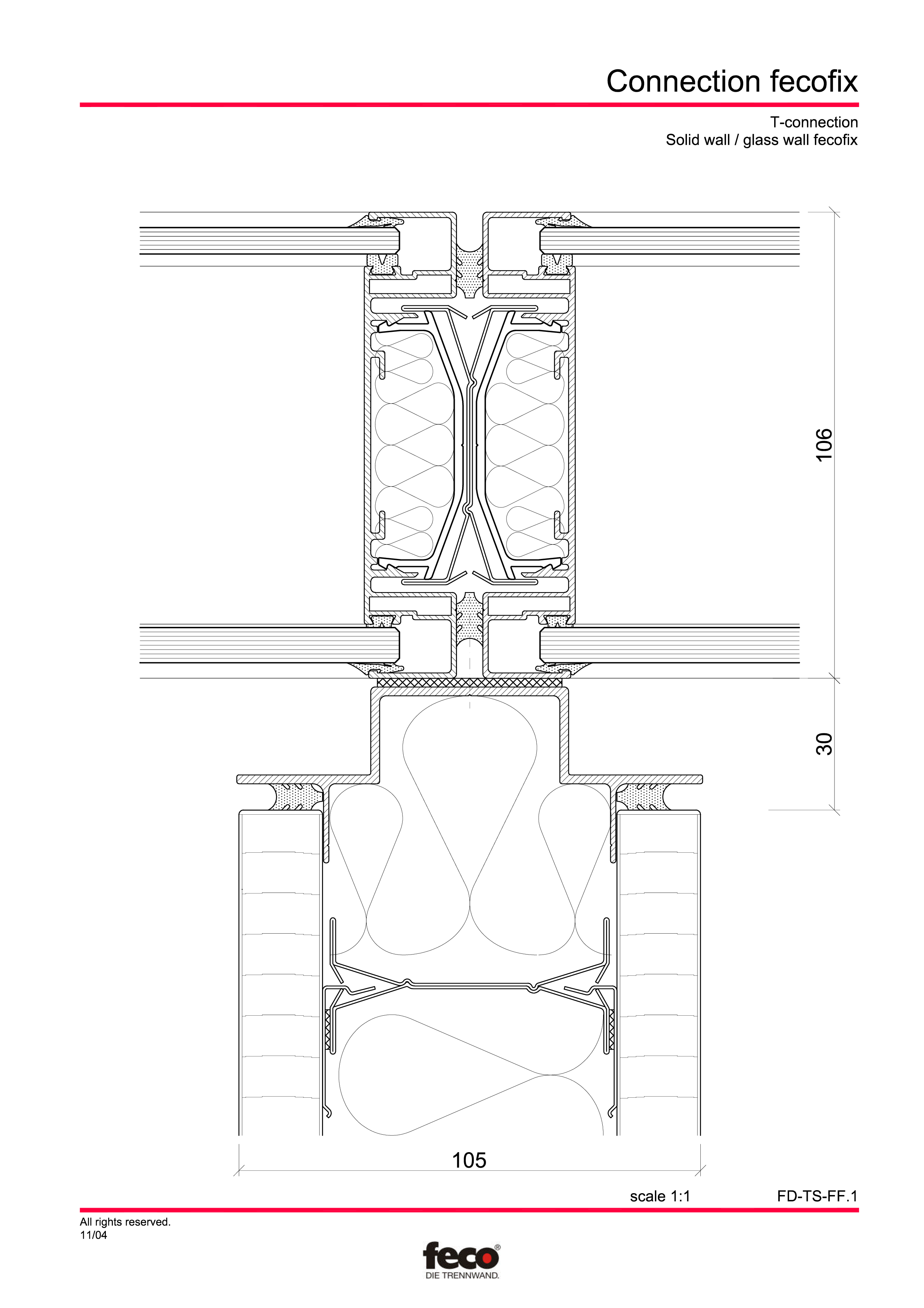 Pagina 6 - CAD-PDF Detaliu racord pereti FECO Detaliu de montaj FecoPur, FecoFix, FecoLux