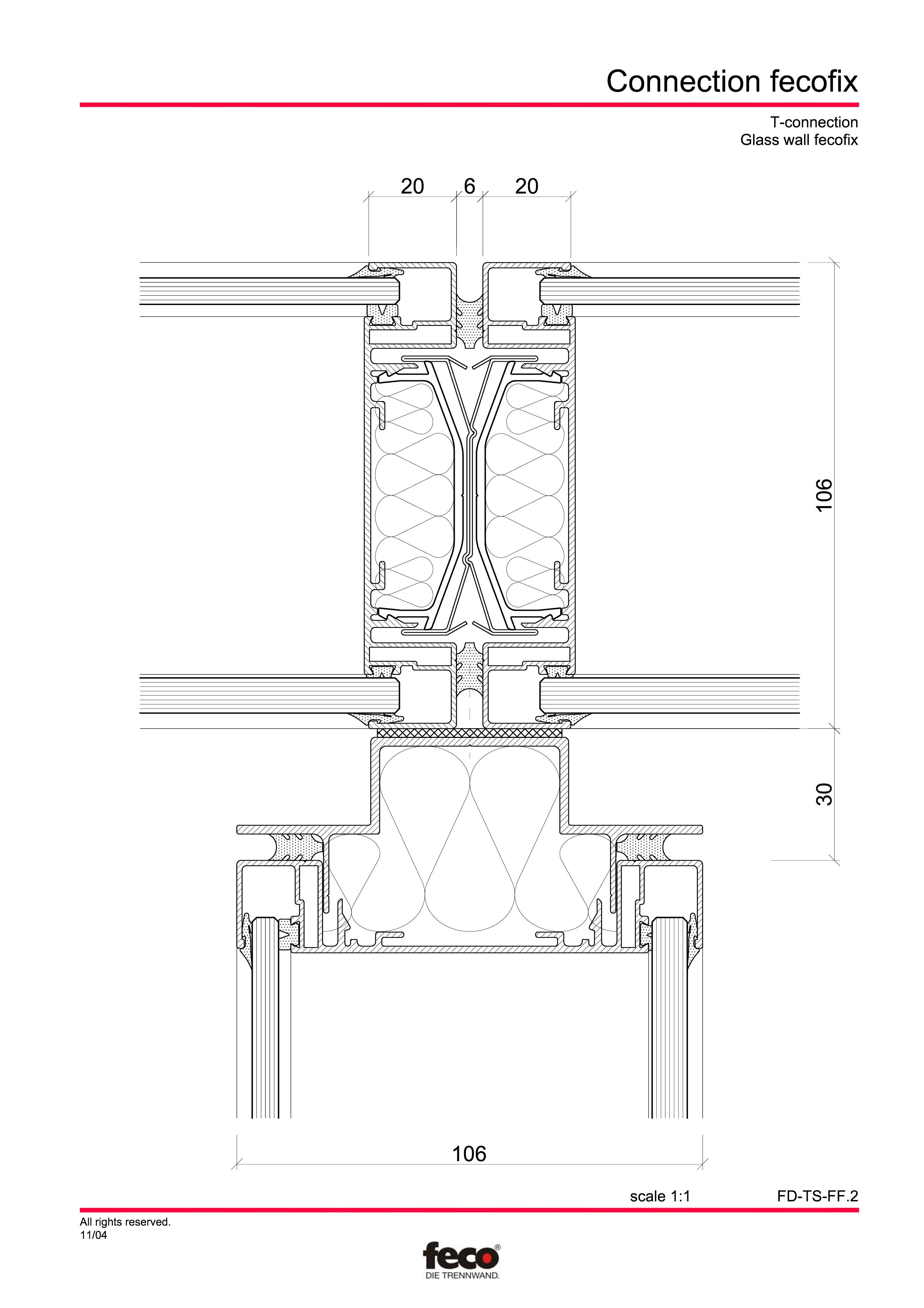 Pagina 7 - CAD-PDF Detaliu racord pereti FECO Detaliu de montaj FecoPur, FecoFix, FecoLux