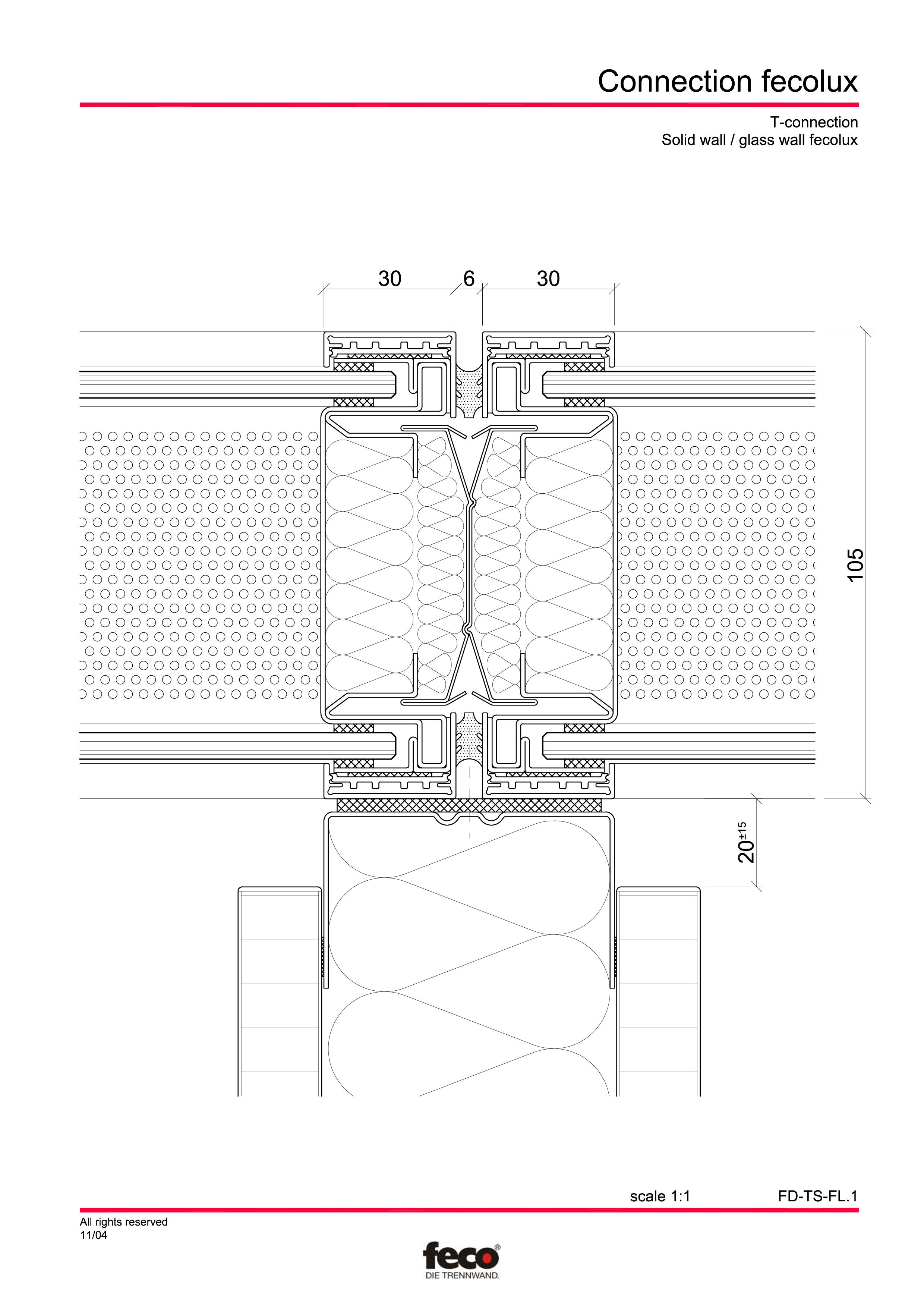 Pagina 8 - CAD-PDF Detaliu racord pereti FECO Detaliu de montaj FecoPur, FecoFix, FecoLux