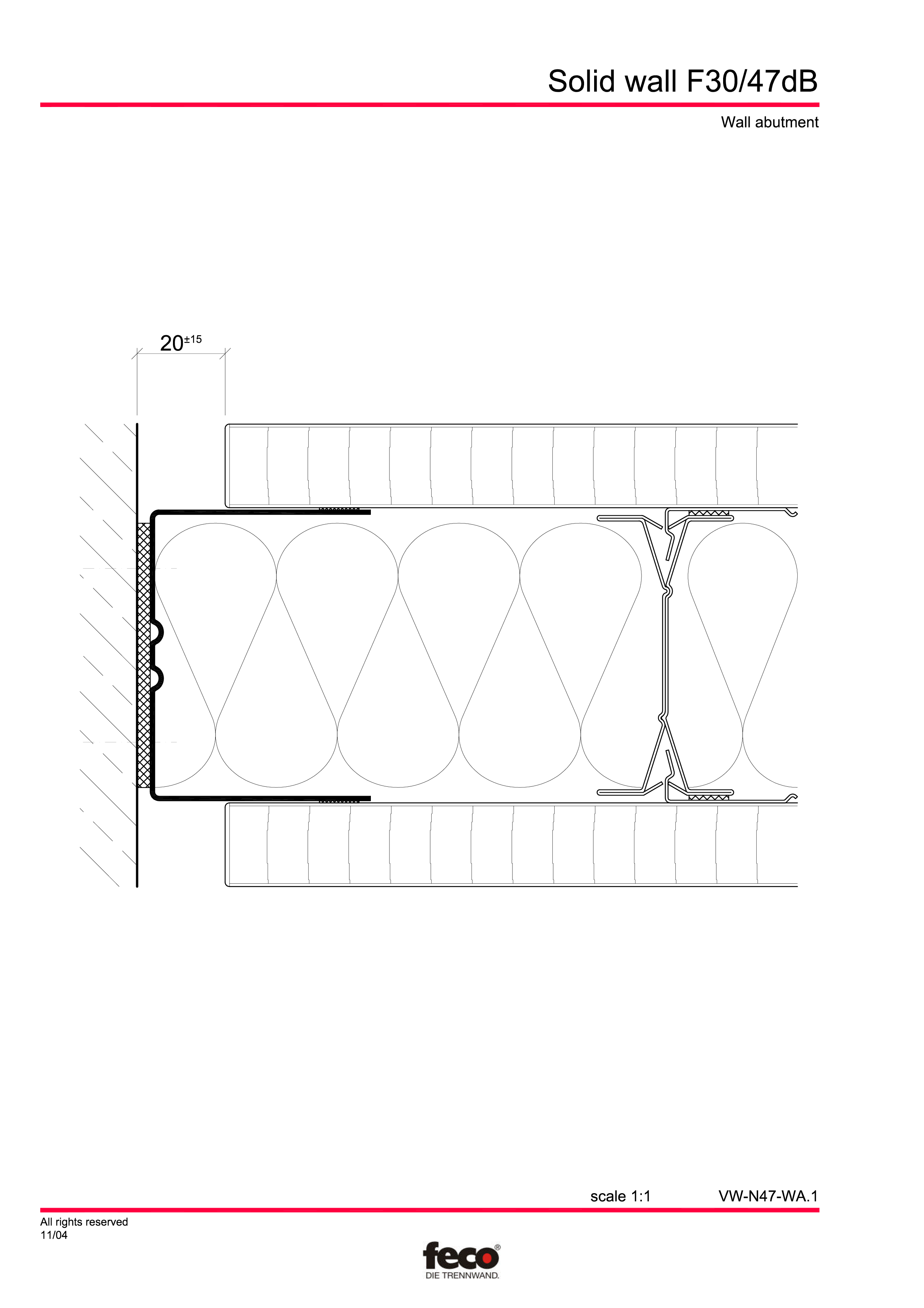 Pagina 6 - CAD-PDF Perete de compartimentare fix FECO Detaliu de montaj FecoFix