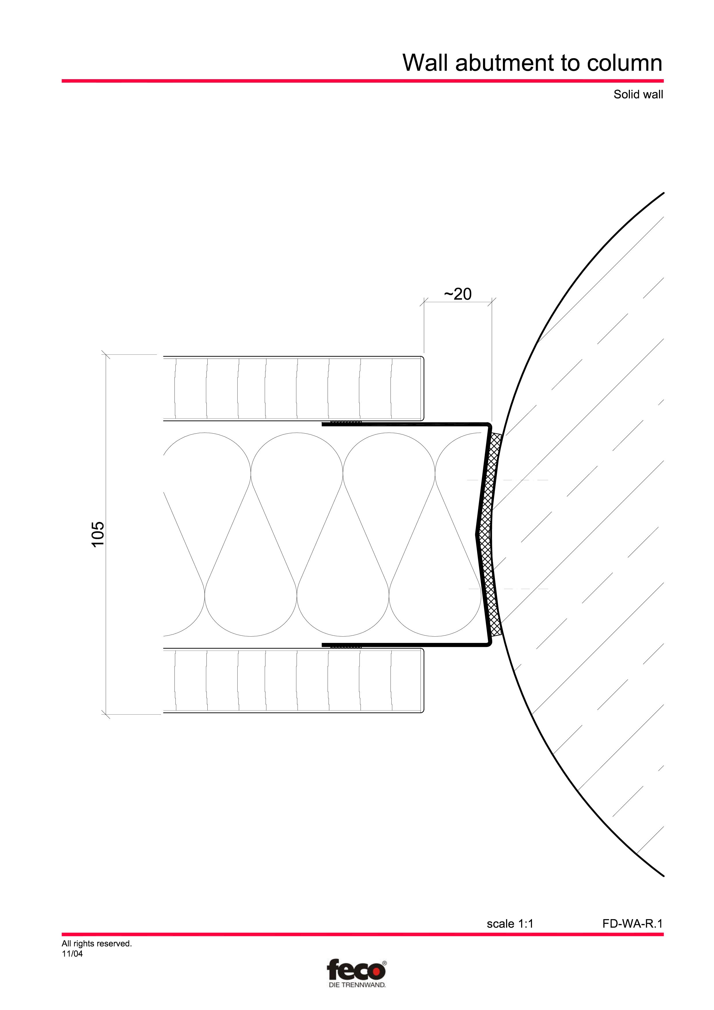 Pagina 1 - CAD-PDF Detaliu racord perete la coloana FECO Detaliu de montaj FecoFix, FecoPur,...
