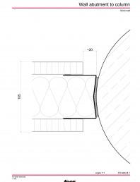 Detaliu racord perete la coloana