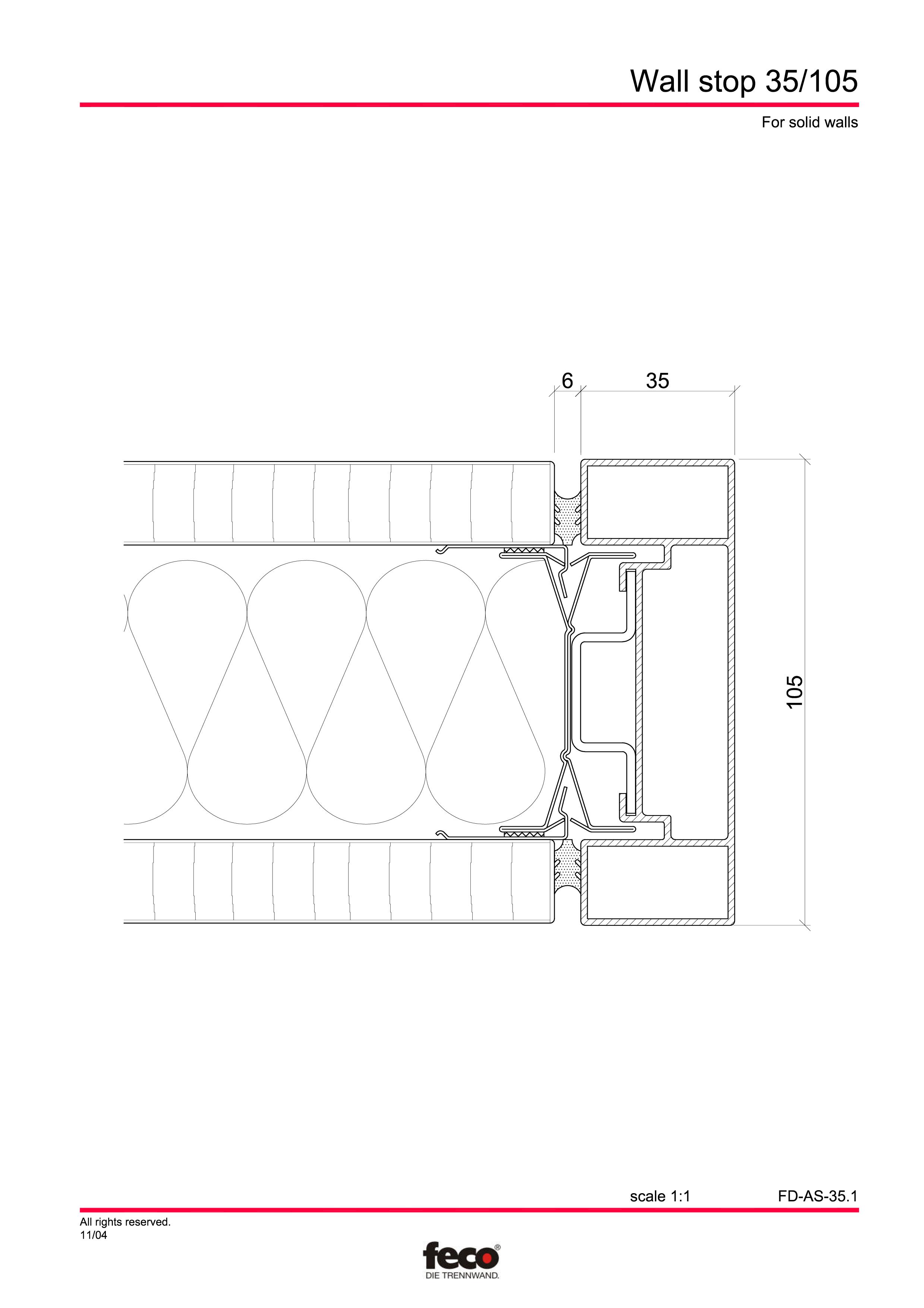 Pagina 2 - CAD-PDF Detaliu de capat perete de compartimentare FECO Detaliu de montaj FecoFix,...