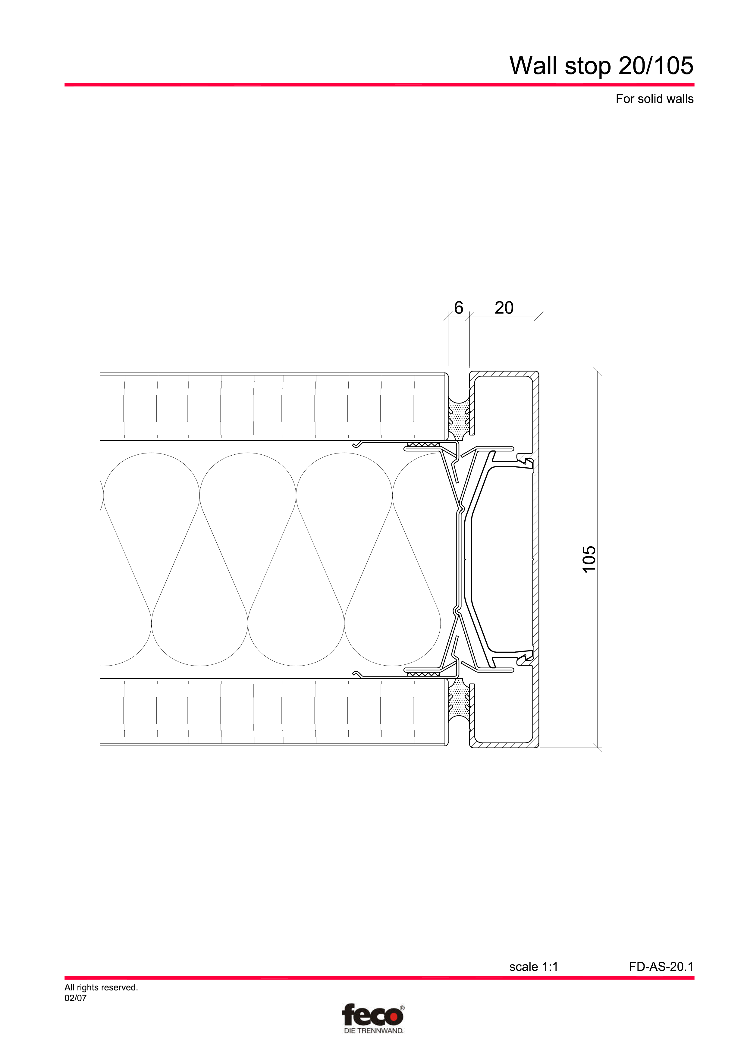 Pagina 4 - CAD-PDF Detaliu de capat perete de compartimentare FECO Detaliu de montaj FecoFix,...