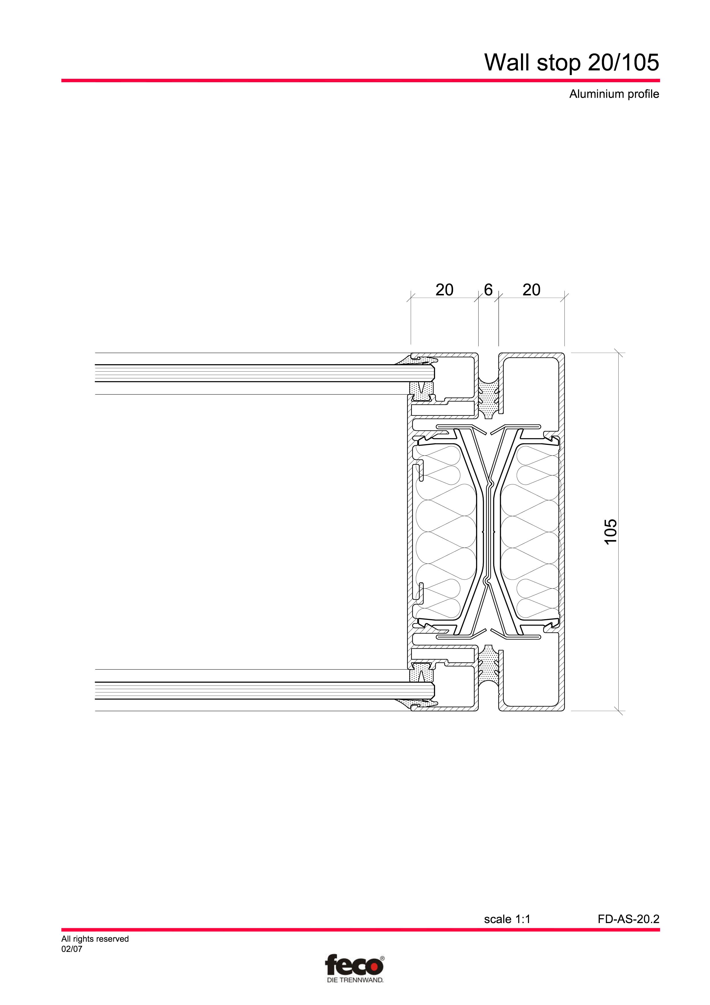 Pagina 5 - CAD-PDF Detaliu de capat perete de compartimentare FECO Detaliu de montaj FecoFix,...