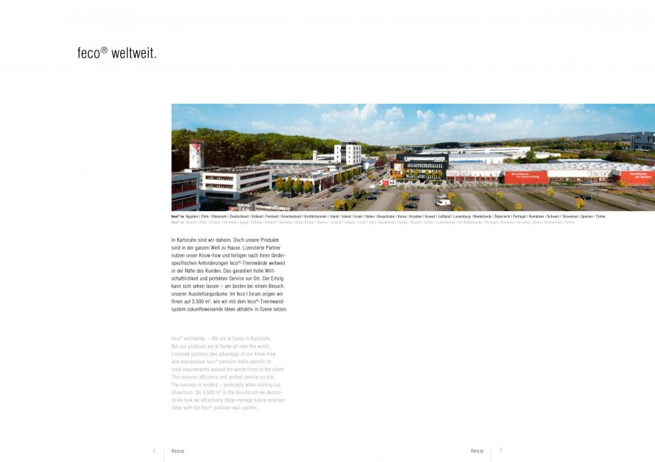 Pagina 3 - Catalog  - Sistem de compartimentare birouri cu usi si pereti din sticla sau lemn FECO...