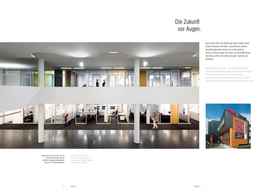 Pagina 4 - Catalog  - Sistem de compartimentare birouri cu usi si pereti din sticla sau lemn FECO...
