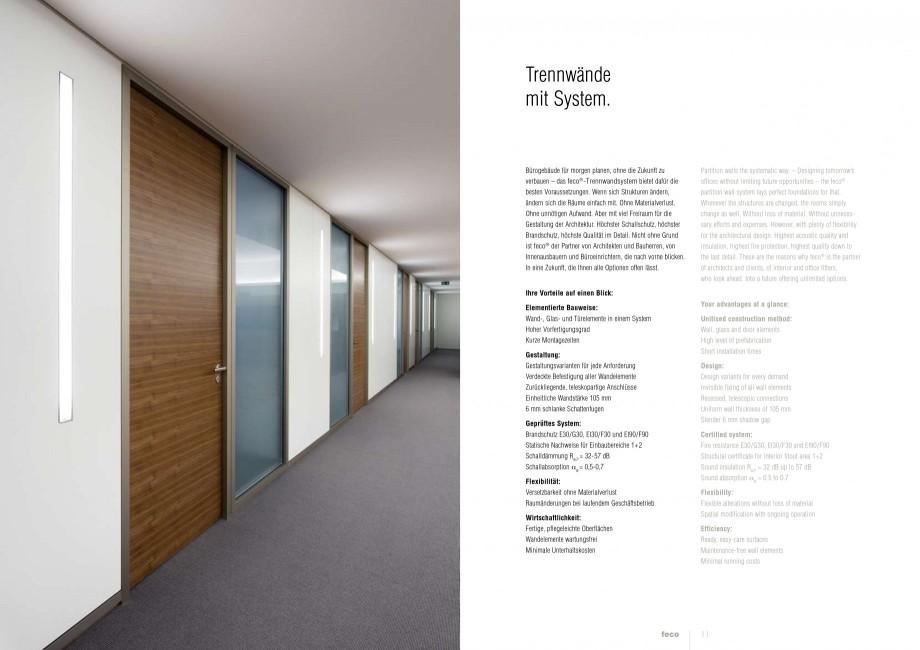 Pagina 5 - Catalog  - Sistem de compartimentare birouri cu usi si pereti din sticla sau lemn FECO...