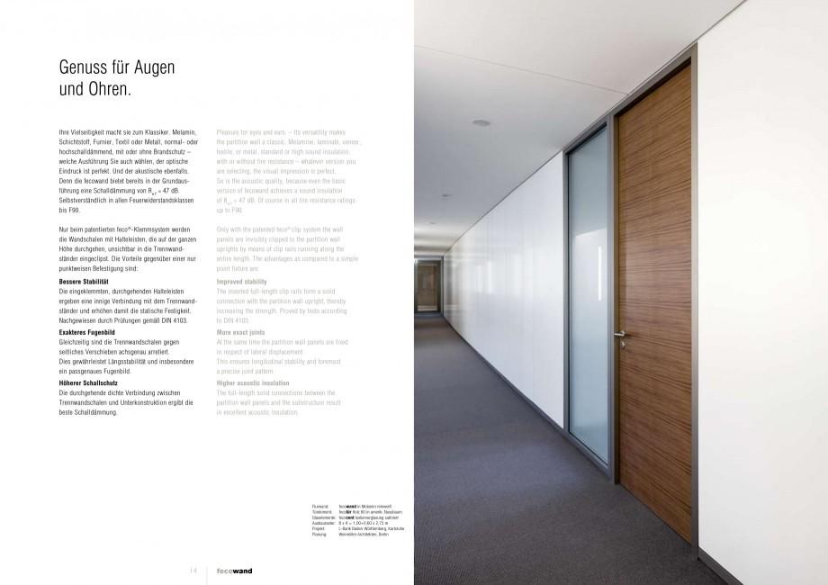 Pagina 7 - Catalog  - Sistem de compartimentare birouri cu usi si pereti din sticla sau lemn FECO...