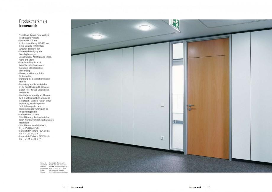 Pagina 8 - Catalog  - Sistem de compartimentare birouri cu usi si pereti din sticla sau lemn FECO...