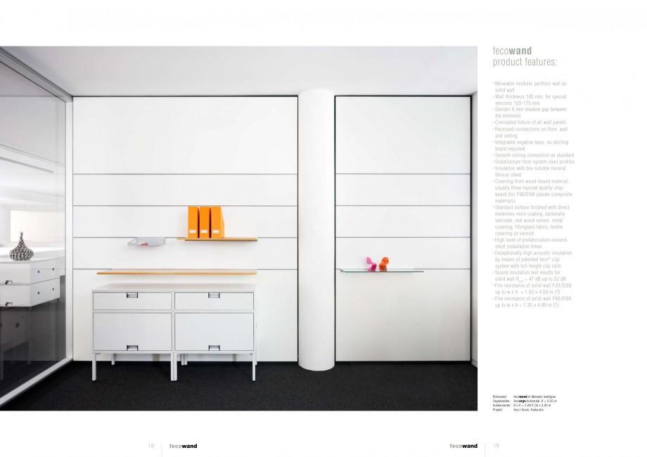 Pagina 9 - Catalog  - Sistem de compartimentare birouri cu usi si pereti din sticla sau lemn FECO...