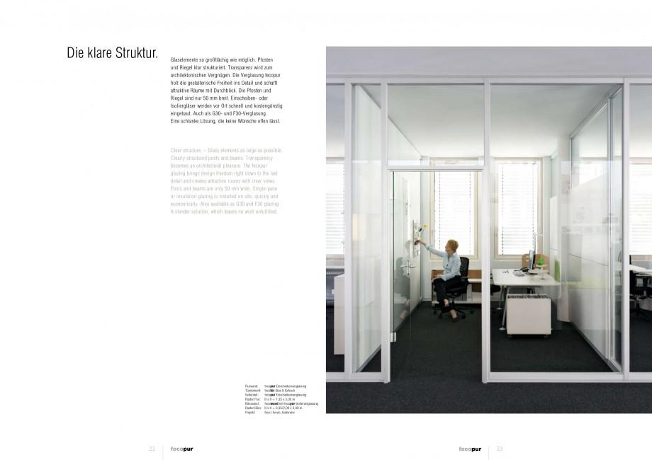Pagina 11 - Catalog  - Sistem de compartimentare birouri cu usi si pereti din sticla sau lemn FECO...