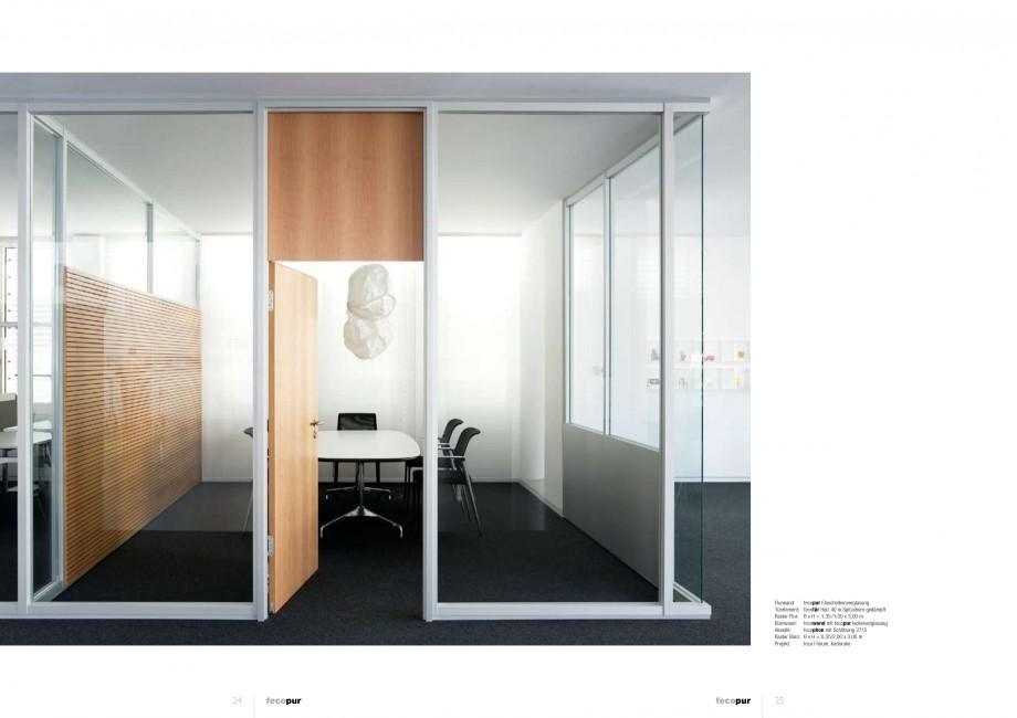 Pagina 12 - Catalog  - Sistem de compartimentare birouri cu usi si pereti din sticla sau lemn FECO...