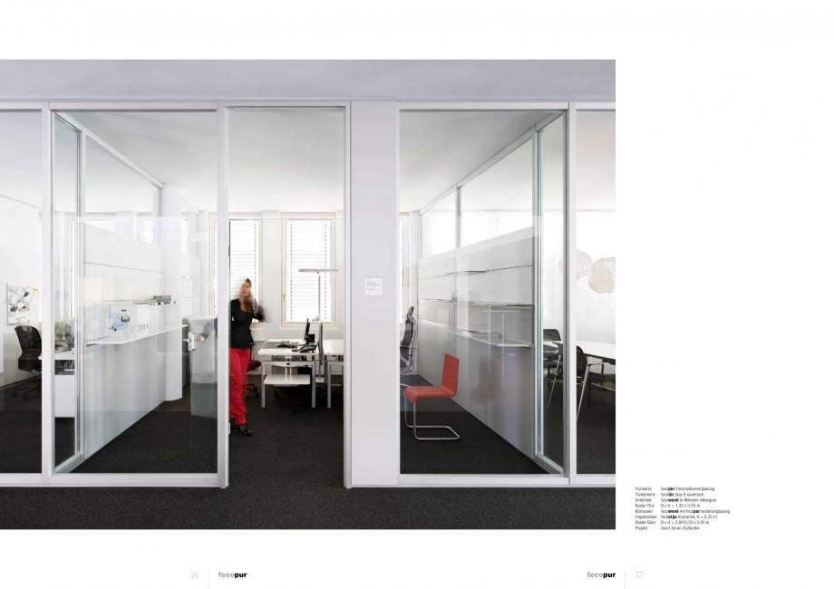 Pagina 13 - Catalog  - Sistem de compartimentare birouri cu usi si pereti din sticla sau lemn FECO...