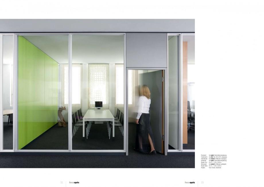 Pagina 16 - Catalog  - Sistem de compartimentare birouri cu usi si pereti din sticla sau lemn FECO...