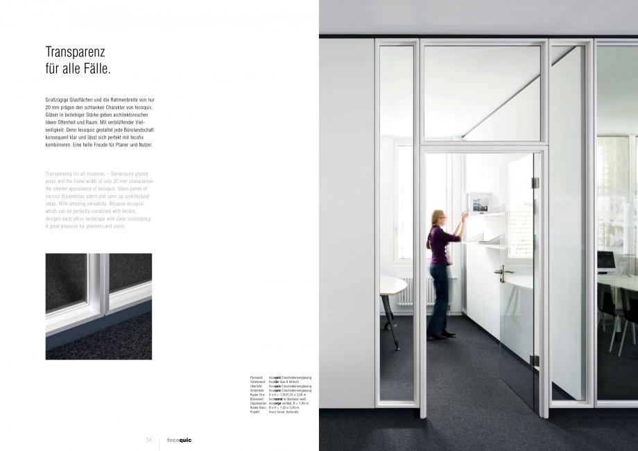 Pagina 17 - Catalog  - Sistem de compartimentare birouri cu usi si pereti din sticla sau lemn FECO...