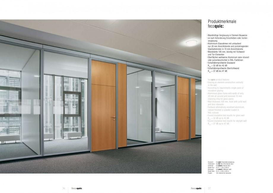 Pagina 18 - Catalog  - Sistem de compartimentare birouri cu usi si pereti din sticla sau lemn FECO...