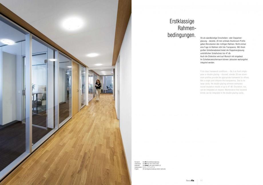 Pagina 20 - Catalog  - Sistem de compartimentare birouri cu usi si pereti din sticla sau lemn FECO...