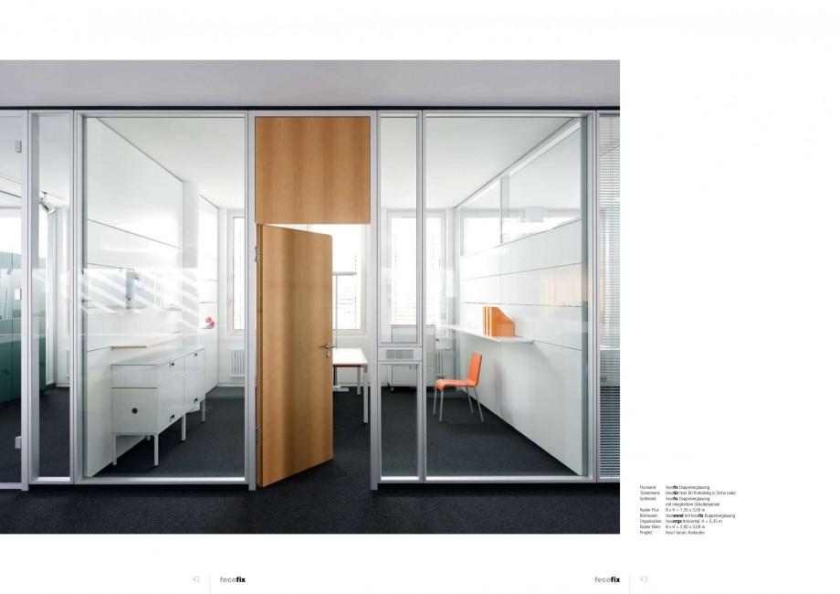 Pagina 21 - Catalog  - Sistem de compartimentare birouri cu usi si pereti din sticla sau lemn FECO...