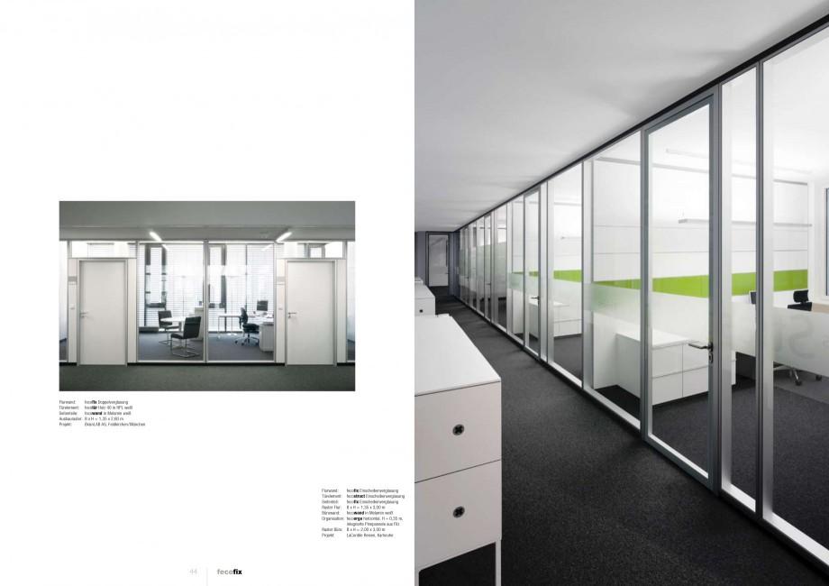 Pagina 22 - Catalog  - Sistem de compartimentare birouri cu usi si pereti din sticla sau lemn FECO...