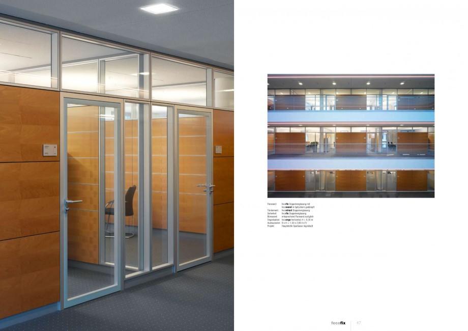 Pagina 23 - Catalog  - Sistem de compartimentare birouri cu usi si pereti din sticla sau lemn FECO...