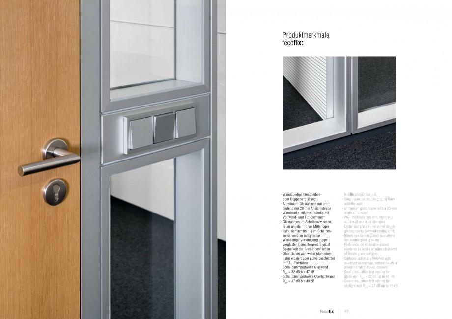 Pagina 24 - Catalog  - Sistem de compartimentare birouri cu usi si pereti din sticla sau lemn FECO...