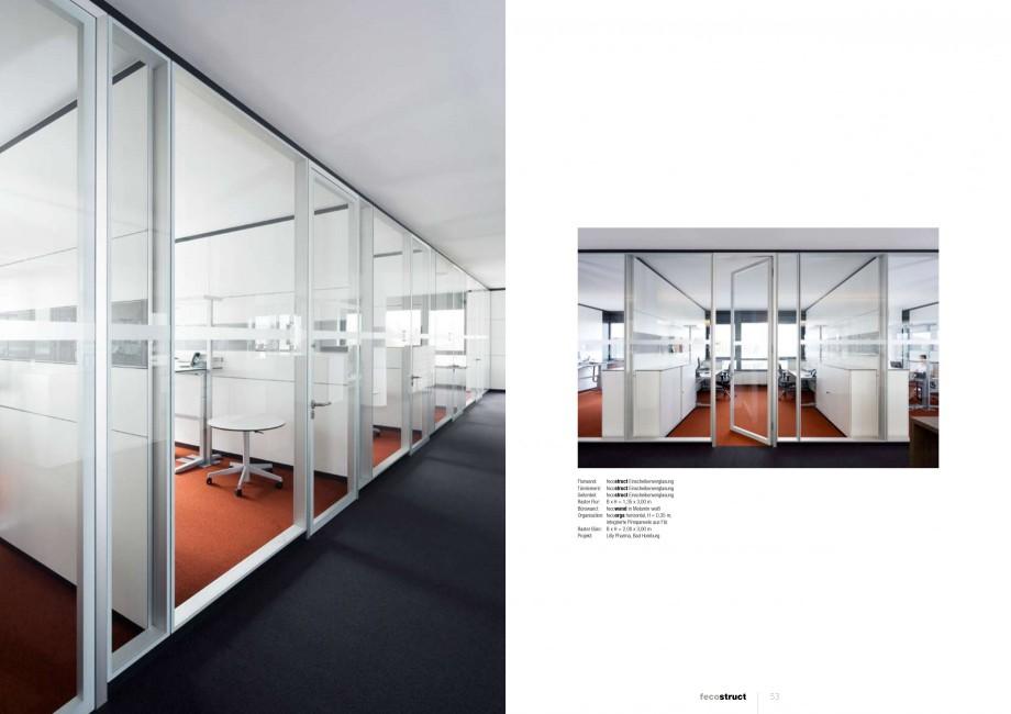 Pagina 26 - Catalog  - Sistem de compartimentare birouri cu usi si pereti din sticla sau lemn FECO...