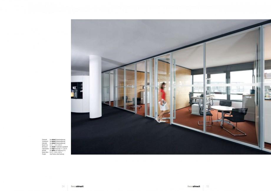 Pagina 27 - Catalog  - Sistem de compartimentare birouri cu usi si pereti din sticla sau lemn FECO...