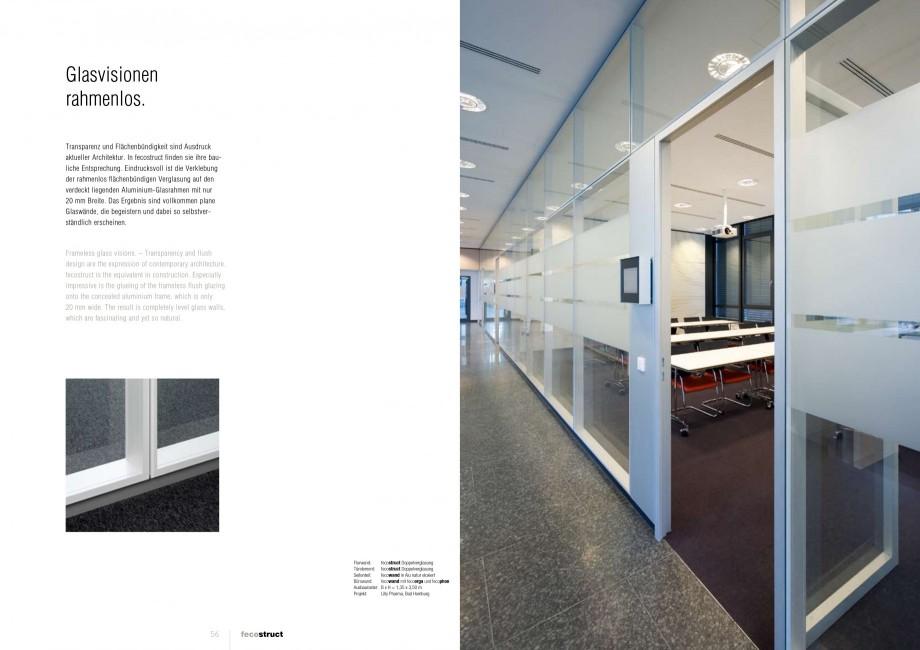 Pagina 28 - Catalog  - Sistem de compartimentare birouri cu usi si pereti din sticla sau lemn FECO...