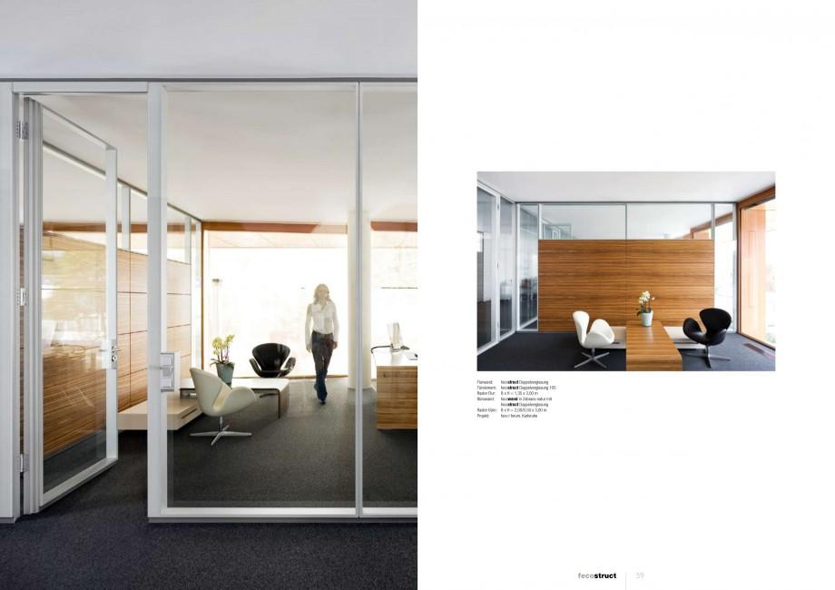 Pagina 29 - Catalog  - Sistem de compartimentare birouri cu usi si pereti din sticla sau lemn FECO...