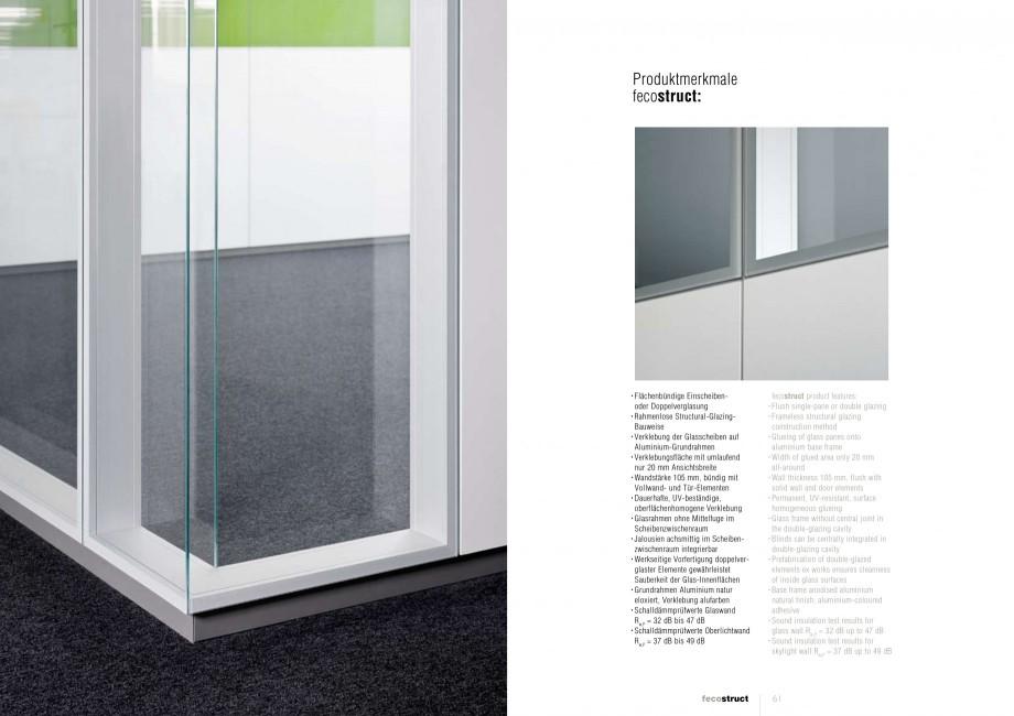 Pagina 30 - Catalog  - Sistem de compartimentare birouri cu usi si pereti din sticla sau lemn FECO...