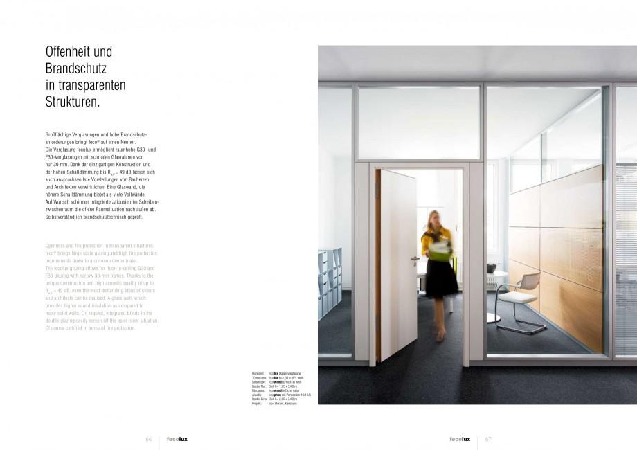 Pagina 33 - Catalog  - Sistem de compartimentare birouri cu usi si pereti din sticla sau lemn FECO...