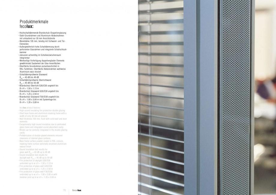 Pagina 35 - Catalog  - Sistem de compartimentare birouri cu usi si pereti din sticla sau lemn FECO...