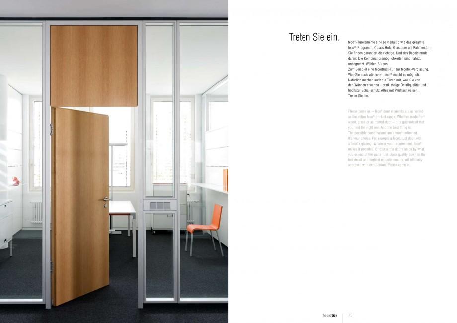 Pagina 37 - Catalog  - Sistem de compartimentare birouri cu usi si pereti din sticla sau lemn FECO...