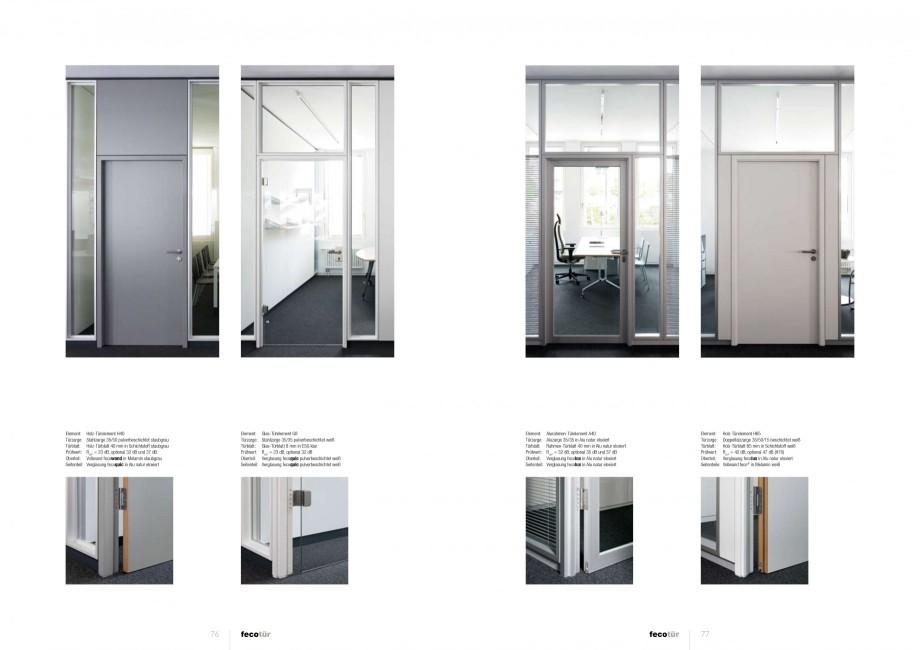 Pagina 38 - Catalog  - Sistem de compartimentare birouri cu usi si pereti din sticla sau lemn FECO...