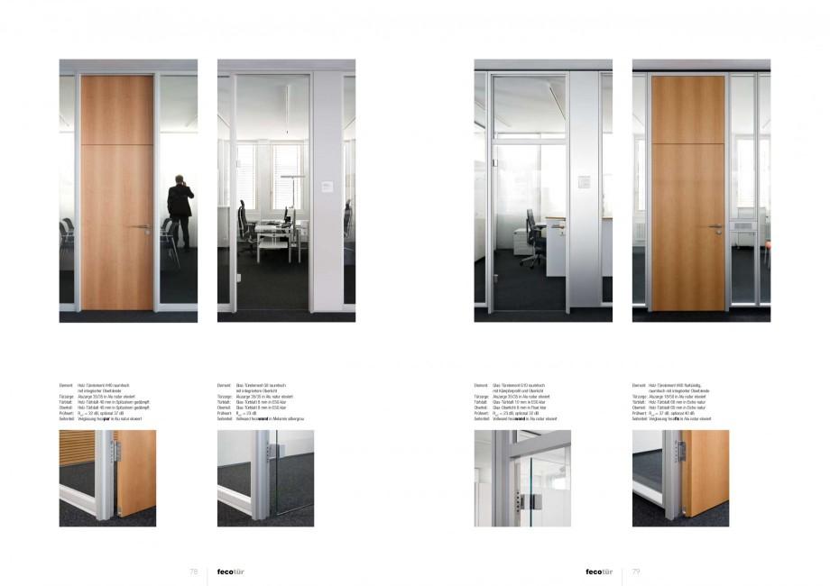 Pagina 39 - Catalog  - Sistem de compartimentare birouri cu usi si pereti din sticla sau lemn FECO...