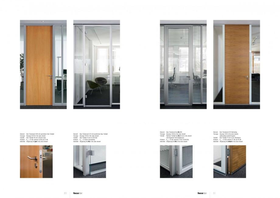 Pagina 40 - Catalog  - Sistem de compartimentare birouri cu usi si pereti din sticla sau lemn FECO...