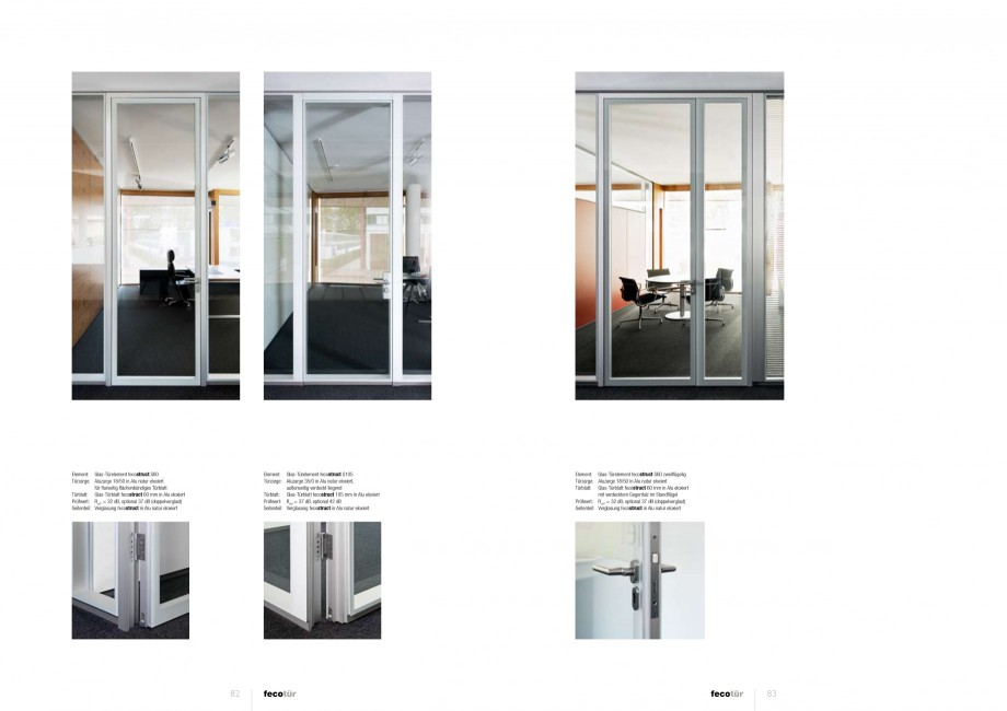 Pagina 41 - Catalog  - Sistem de compartimentare birouri cu usi si pereti din sticla sau lemn FECO...