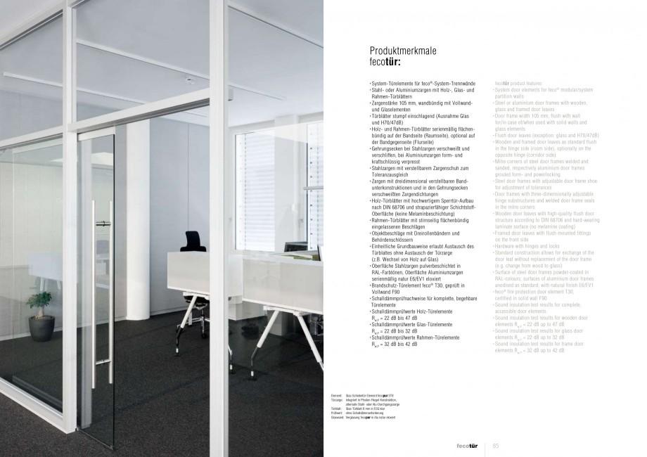 Pagina 42 - Catalog  - Sistem de compartimentare birouri cu usi si pereti din sticla sau lemn FECO...