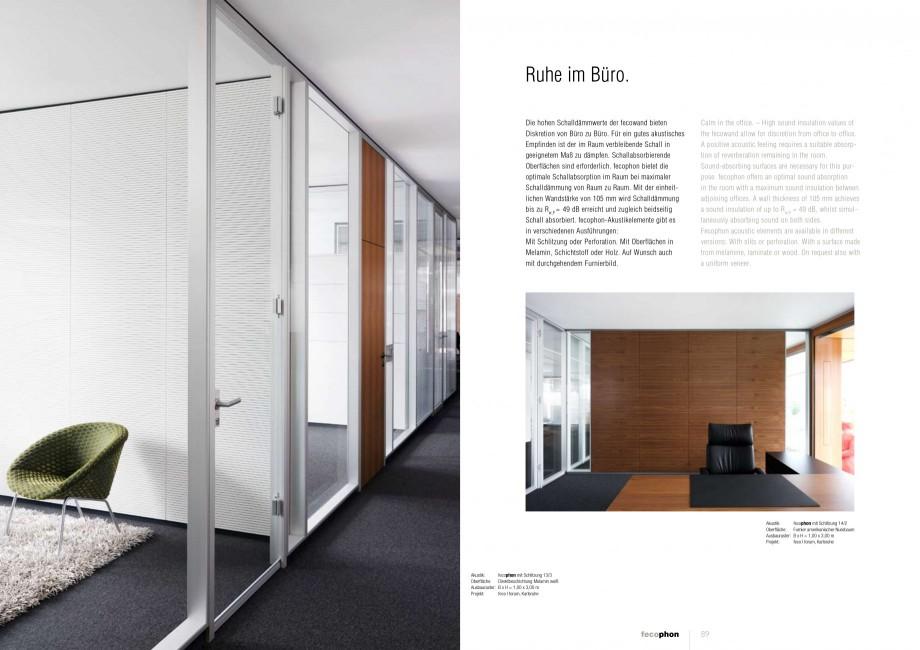 Pagina 44 - Catalog  - Sistem de compartimentare birouri cu usi si pereti din sticla sau lemn FECO...
