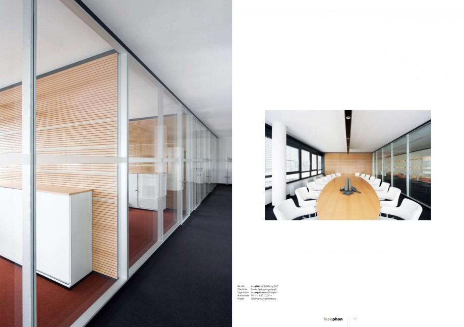 Pagina 45 - Catalog  - Sistem de compartimentare birouri cu usi si pereti din sticla sau lemn FECO...