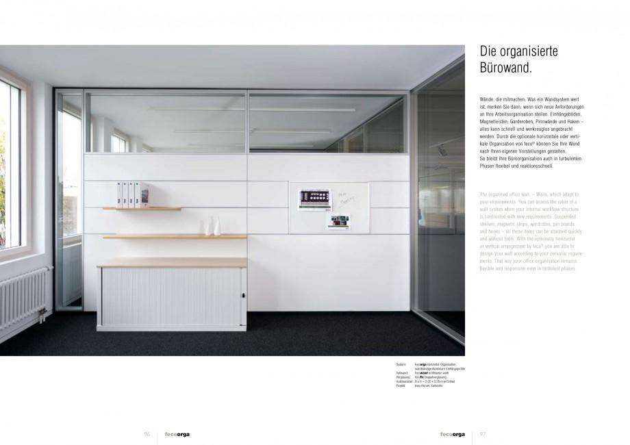 Pagina 48 - Catalog  - Sistem de compartimentare birouri cu usi si pereti din sticla sau lemn FECO...
