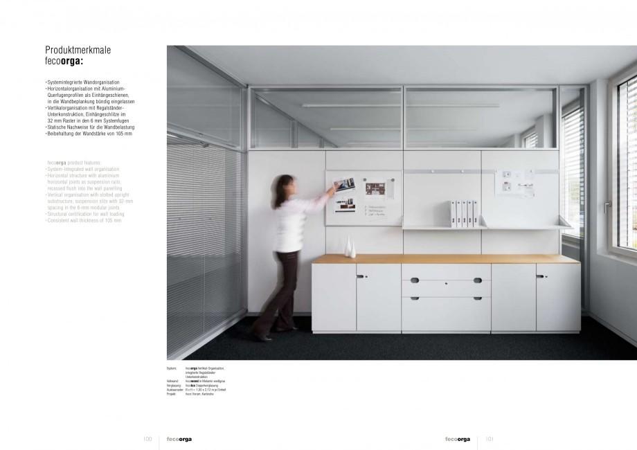 Pagina 50 - Catalog  - Sistem de compartimentare birouri cu usi si pereti din sticla sau lemn FECO...