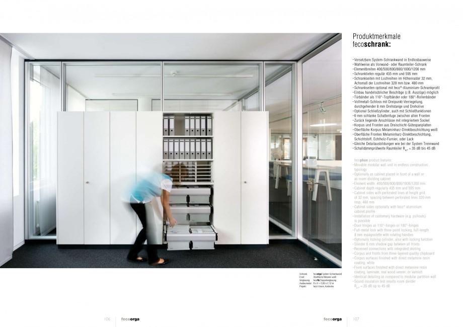 Pagina 53 - Catalog  - Sistem de compartimentare birouri cu usi si pereti din sticla sau lemn FECO...