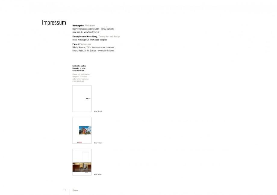 Pagina 56 - Catalog  - Sistem de compartimentare birouri cu usi si pereti din sticla sau lemn FECO...