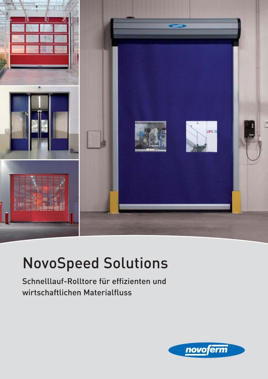 Pagina 1 - Porti industriale rapide NOVOFERM NovoSpeed  Fisa tehnica Germana NovoSpeed Solutions...