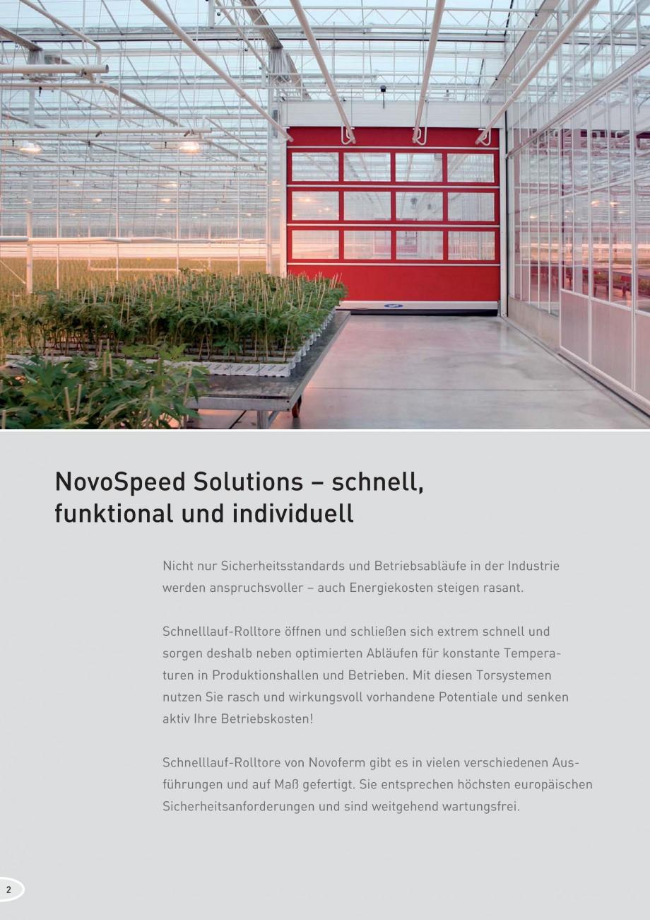 Pagina 2 - Porti industriale rapide NOVOFERM NovoSpeed  Fisa tehnica Germana ge........................