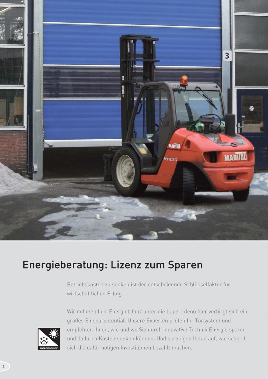 Pagina 4 - Porti industriale rapide NOVOFERM NovoSpeed  Fisa tehnica Germana Energiebilanz unter die...