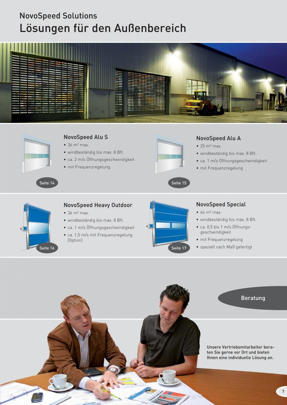 Pagina 7 - Porti industriale rapide NOVOFERM NovoSpeed  Fisa tehnica Germana  • ca. 1,5 m/s mit...